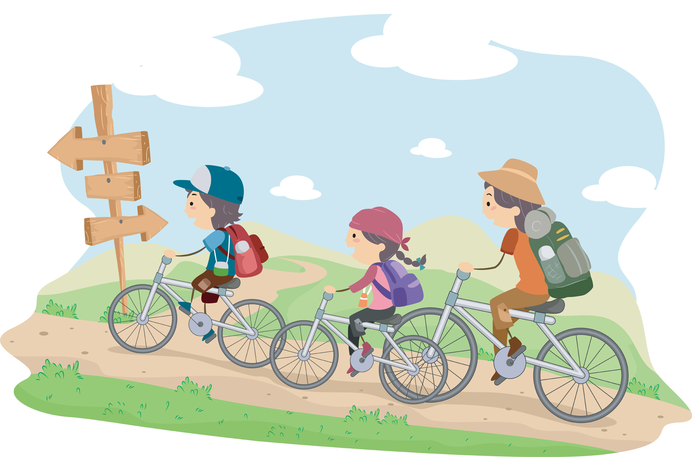kids biking - Summer Pictures For Kids